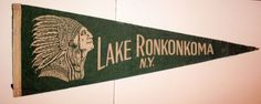 Vintage Lake Ronkonkoma New York Pennant