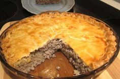 Meat Pie or Tourtière is a traditional part of the Christmas and/or Christmas' eve réveillon and New Year's eve meal in Québec.    Tourtière is a traditional French-Canadian dish served by generations of French-Canadian families.    Delectable Christmas treasure
