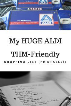 """This is a HUGE list of all my THM must-haves from ALDI. This ALDI shopping list shows that there are so many great ingredients you can purchase that aren't """"special! Top 10 Healthy Foods, Trim Healthy Mama Diet, Trim Healthy Recipes, Thm Recipes, Budget Recipes, Healthy Cooking, Healthy Moms, Cream Recipes, Delicious Recipes"""