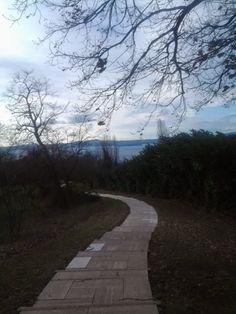 Cimitero di guerra di Bolsena. Il sentiero lastricato.