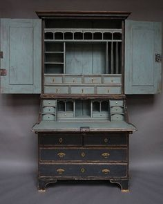 Exceptional Baroque Secretary with Fitted Interior | From a unique collection of antique and modern secretaires at https://www.1stdibs.com/furniture/storage-case-pieces/secretaires/