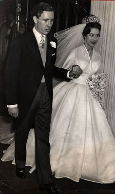 1960 Princess Margaret in a Norman Hartnell on her wedding day.