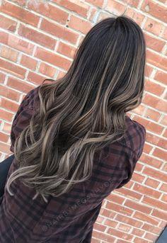 Brunette balayage #balayage #brunette #hair #longhair #curls #highlights #darkhair