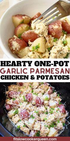 Potato Recipes Crockpot, Red Potato Recipes, Crockpot Chicken Healthy, Slow Cooker Recipes, Instantpot Chicken Recipes, Dinner Crockpot Recipes, Healthy Crockpot Chicken Recipes, Slow Cooker Dinners, One Pot Recipes