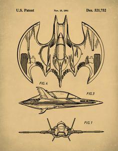 Patent Print Batwing Poster Batman by NeueStudioArtPrints Batman And Batgirl, Gotham Batman, Im Batman, Batman Robin, Batman Artwork, Batman Comic Art, Dc Comics Superheroes, Batman Comics, Jason Todd Batman
