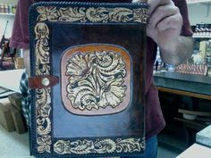 Portfolio / Western / Leather / Note Book  /  I pad Case / Hand Carved and Tooled / Leather / Organizer