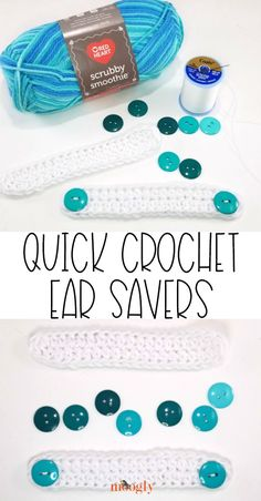 Make Quick Crochet Ear Savers for those who have to wear face masks all day, to make it as comfortable as possible. Simple, quick, and helpful! projects to sell free pattern ideas Quick Crochet Ear Savers Crochet Mask, Crochet Faces, Free Crochet, Moogly Crochet, Quick Crochet Gifts, Easy Crochet Headbands, Quick Crochet Patterns, Dishcloth Crochet, Crochet Afghans