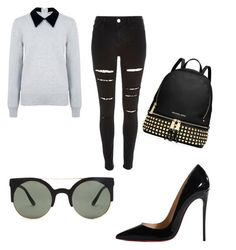 """""""Untitled #14"""" by giuliana-dametto on Polyvore featuring interior, interiors, interior design, home, home decor, interior decorating, Edit, River Island, Christian Louboutin and Forever 21"""