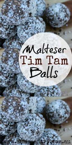 Malteser Tim Tam Balls are so delicious, you wont be able to stop at one! Quick and easy to make, they're great in the freezer and store well. Easy Desserts, Delicious Desserts, Dessert Recipes, Yummy Food, Holiday Desserts, Holiday Recipes, Awesome Desserts, Snacks Recipes, Awesome Cakes