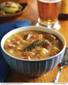 Pork Stew As the chilly weather rolls in, hearty stews make wonderful comfort food. Try this scrumptious Pork Stew with Fall Fruit Salad. Pork Stew Meat, Pork Soup, Pork Stew Slow Cooker, Chili Soup, Pork Recipes, Cooking Recipes, Healthy Recipes, Leftover Pork Loin Recipes, Stuffed Peppers