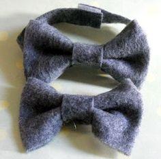 felt bow ties