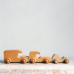 Vintage Wood Toy Car Collection / Wood Toy Natural by ethanollie