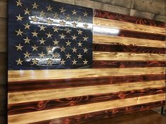 Hand Carved Charred American Traditional – The Rustic Flag Company