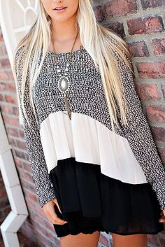 Lavish Boutique  - Twist Of Fate Tunic Top: Black, $32.50 (http://lavishboutique.com/twist-of-fate-tunic-top-black/)