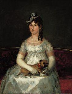 Portrait of Doña Francisca Vicenta Chollet y Caballero, 1806 by Francisco de Goya y Lucientes - Norton Simon Art Foundation