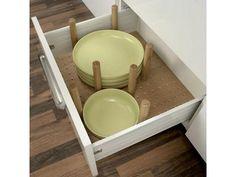 Plate stack drawer insert