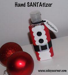 Someday Crafts: Santatizer - Santa Hand Sanitizer