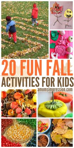 20 Fun Fall Activities for Kids Enjoy these fun fall activities for kids of all ages that include science experiments and outdoor play. There are fun ideas for crafts to build fine motor skills for toddlers and preschoolers. Fall Activities For Toddlers, Fall Preschool, Outdoor Activities For Kids, Fall Crafts For Kids, Color Activities, Family Activities, Travel Activities, Autumn Crafts, Kids Crafts