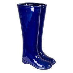 Sagebrook Home Ceramic Boots Umbrella Stand - 10594