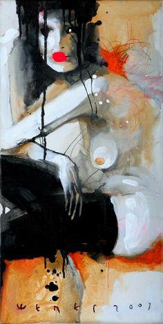 VIKTOR SHELEG (©2007 artmajeur.com/artsheleg) painting, oil on canvas, mixed Technics.