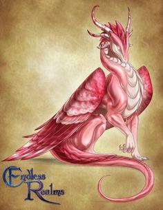 Endless Realms bestiary - Rhodochrosite Dragon by jocarra.deviantart.com on @DeviantArt