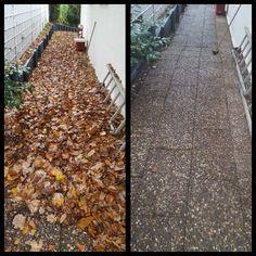Laubsee vs. Terrasse #laub #laubblätter #herbst #gartendienst #grünerdaumen #grigorov #rösrath
