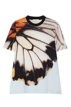 Givenchy|Butterfly-print cotton-jersey T-shirt|NET-A-PORTER.COM