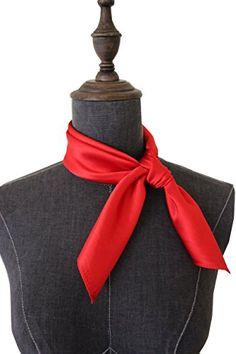 Custom Braided Kangaroo Leather Scarf or Wild Rag Slide Color Red
