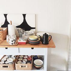 Masumiさんの、食器,DIY,カフェ風,iitala,北欧,marimekko,イッタラ,IKEA,マリメッコ,キッチン,のお部屋写真