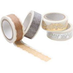 Gold And Silver Lace Washi Tape 5M 4 Pack | Hobbycraft