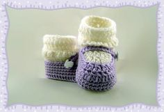 Mary Jane Baby Bootie Pattern