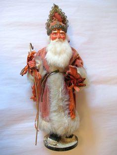 German Saint Nicholas German Christmas, Prim Christmas, Old Fashioned Christmas, Antique Christmas, Vintage Christmas Ornaments, Father Christmas, Retro Christmas, Christmas Items, Christmas Images