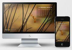 Hi, we have a Free Desktop Wallpaper Calendar of October 2012  Hope you'll like it :)