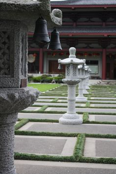 The Temple Courtyard at the Fo Guang Shan Buddhist Temple, Auckland.