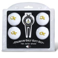 Georgia Tech Yellowjackets NCAA 4 Ball/Divot Tool Set