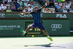 #GaelMonfils #Monfils #tennis Gael Monfils plays Pablo Carreno Busta in Men's Singles Second Round in Stadium 2 at the Indian Wells Tennis Garden in Indian Wells, California Saturday, March 12, 2016. (Photo by Billie Weiss/BNP Paribas Open)