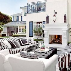 chic outdoor decorating