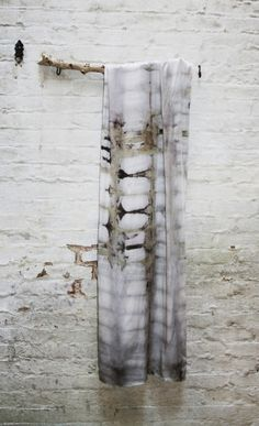 Cara Marie Piazza: A silk Devi Wrap Scarf in an itajime shibori pattern, dyed with logwood, iron sulphate, madder, & turmeric Tye Dye, Cara Marie Piazza, How To Dye Fabric, Fabric Art, Kimono Fabric, India Flint, Impression Textile, Shibori Tie Dye, Diy Inspiration