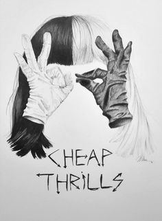 Sia Cheap Thrills with Maddie Ziegler - by Marie-Luise Sehn, fineliner on paper, 2016