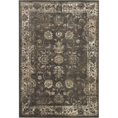 Loomed art silk rug with a distressed Persian-inspired motif. Made in India.   Product: RugConstruction Material: