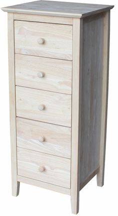 5 Drawer Lingerie Chest - DIY for my entryway Baby Room Storage, Bedroom Storage, Lingerie Storage, Lingerie Dresser, Chest Of Drawers Design, Unfinished Furniture, Home Design Decor, Shaker Style, Furniture Restoration