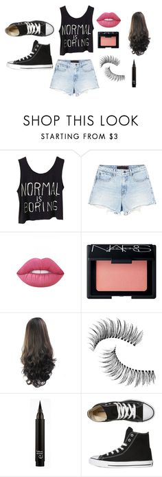 hope 5 by hopegreen on Polyvore featuring Alexander Wang, Converse, Trish McEvoy, NARS Cosmetics and Lime Crime