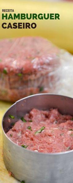 Hamburguer na churrasqueira é uma prática comum americana! Inclua no proximo churrasco alguns hamburgueres caseiros! Os convidados vão amar!