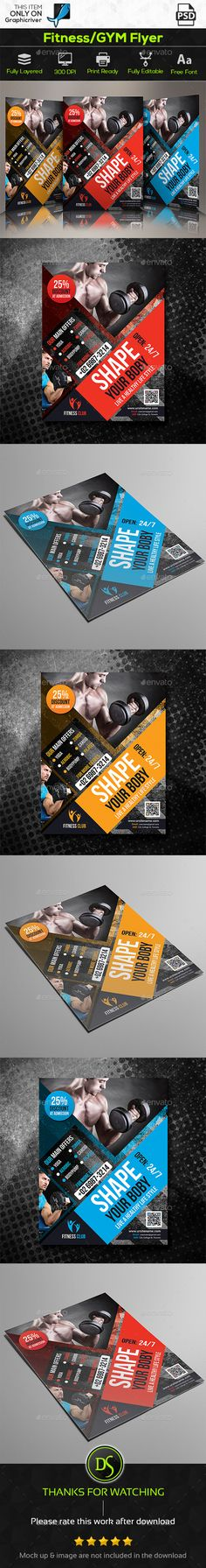 Fitness Flyer Flyer template, Event flyer templates and Event flyers - fitness flyer template
