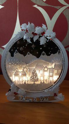 Best 12 Tattered Lace Snow Globe with Lights – SkillOfKing.Com – SkillOfKing. Diy Snow Globe, Christmas Snow Globes, Stampin Up Christmas, Christmas Snowman, Handmade Christmas, Christmas Crafts, Christmas Decorations, White Christmas, Christmas Cards 2018