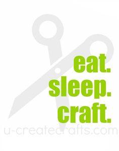 Free Printable Eat. Sleep. Craft. (lots of free printables)