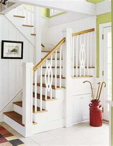 1000 images about ideas cottage staircase on pinterest staircases tradi - Escalier contremarche peinte ...