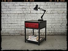 Retro Suitcase Bedside Table