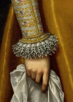 Detail from Frans Pourbus the Younger, Archduchess Maria Magdalena of Austria, c.1603.