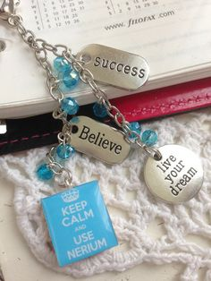 Keep Calm Nerium Inspired Charm -  Filofax Planner or Purse Charm